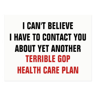 Another Terrible GOP Healthcare Plan Postcard