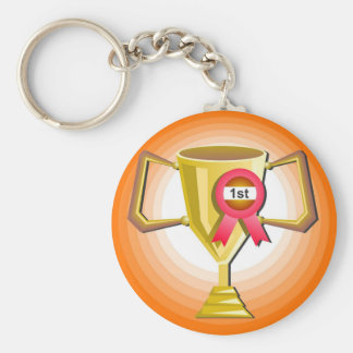 Another Trophy Basic Round Button Key Ring