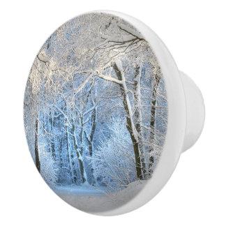 another winter wonderland ceramic knob
