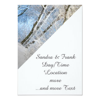 "another winter wonderland 5"" x 7"" invitation card"