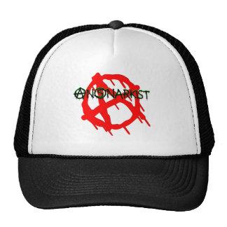 AnSnarkist Anarchy Large Black-Green Cap