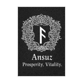 Ansuz-rune / Prosperity, Vitality Canvas Print