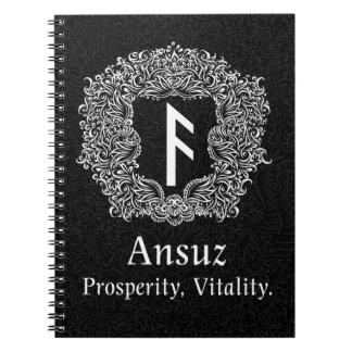 Ansuz-rune / Prosperity, Vitality Notebook