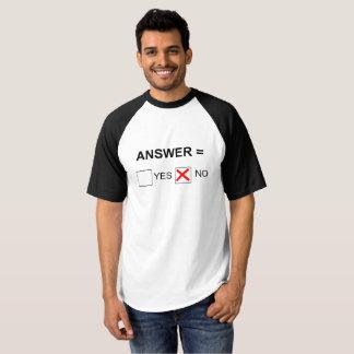 Answer Equals No, Mens T Shirt
