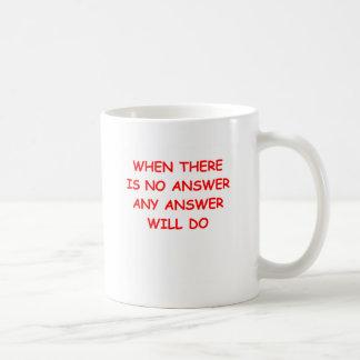 ANSWER COFFEE MUGS
