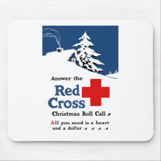 Answer The Red Cross Christmas Roll Call Mouse Pad