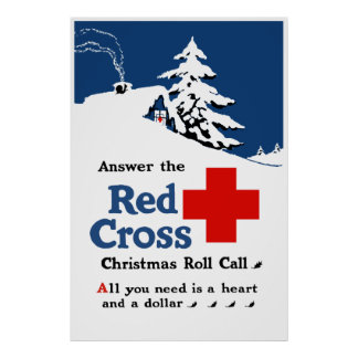 Answer The Red Cross Christmas Roll Call Poster