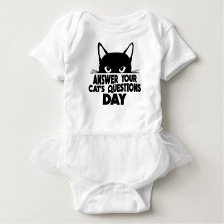 Answer Your Cat's Questions Day Baby Bodysuit
