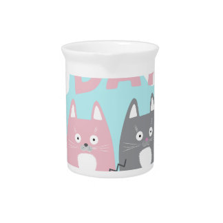 Answer Your Cat's Questions Day Beverage Pitcher