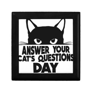 Answer Your Cat's Questions Day Gift Box