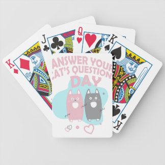 Answer Your Cat's Questions Day Poker Deck