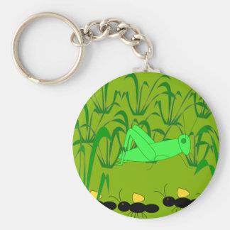 Ant and Grasshopper Keychain