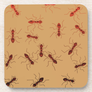 Ant antics. beverage coaster