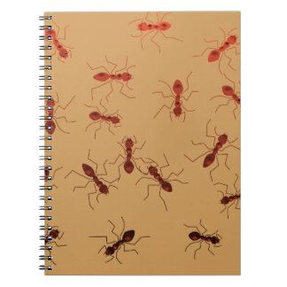 Ant antics. spiral notebook