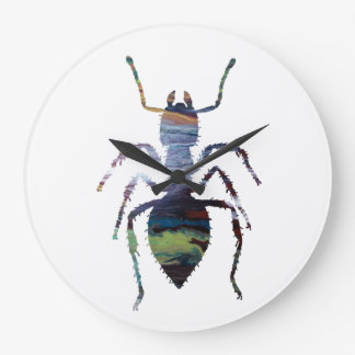 Ant art large clock