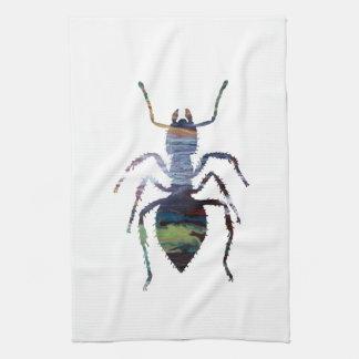 Ant art tea towel