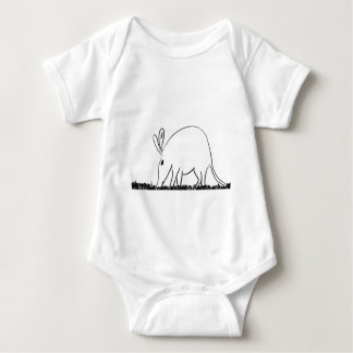 Ant eater baby bodysuit