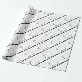 Ant eater wrapping paper