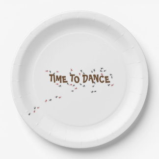 Ant Insect Time to Dance Funny Party Paper Plate