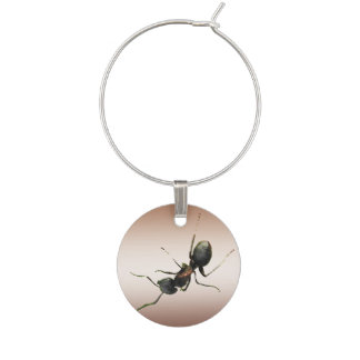 Ant on Bronze Wine Charm