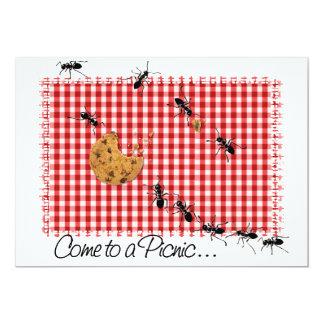 """Ant Picnic Invite 2 5"""" X 7"""" Invitation Card"""