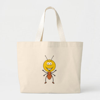 Ant Smiley Face Canvas Bags