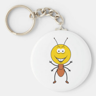 Ant Smiley Face Keychain