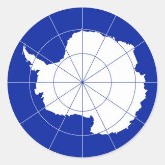 Antarctic Treaty Flag. Antarctica Round Sticker