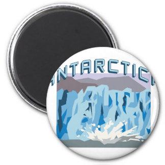 Antarctica 6 Cm Round Magnet