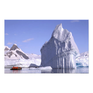 Antarctica, Antarctic Peninsula. Zodiak and Photo Art