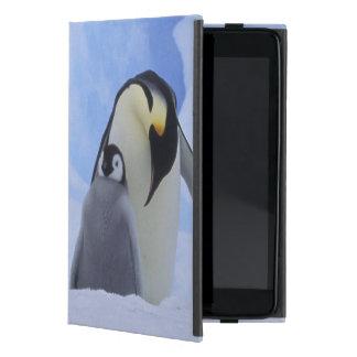 Antarctica. Emperor penguins and chick iPad Mini Cover