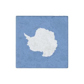 Antarctica Flag Stone Magnet