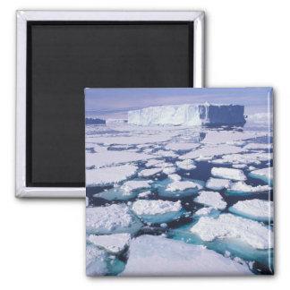 Antarctica, Ice flow. Square Magnet