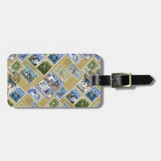 Antarctica - Penguin Postage Stamps Luggage Tag