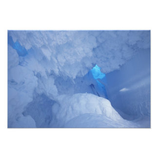 Antarctica, Ross Island, Cape Evans, Snow cave Photographic Print