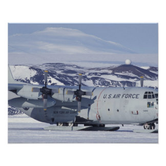 Antarctica, Ross Island, McMurdo station, C-130 Poster