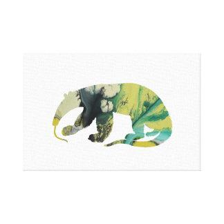 Anteater art canvas print