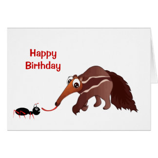 Anteater Meets His Lunch Birthday Card