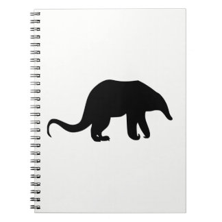 Anteater Silhouette Spiral Notebook