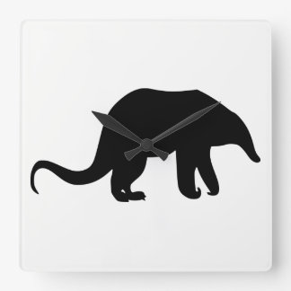 Anteater Silhouette Square Wall Clock