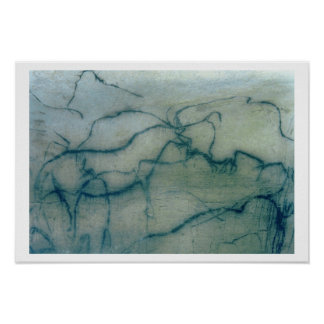 Antelope and bison, Perigordian (cave painting) Posters