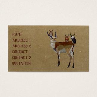 ANTELOPE & ANTLER OWLS Business Card
