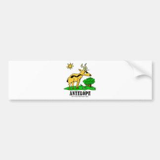 Antelope by Lorenzo Traverso Bumper Sticker
