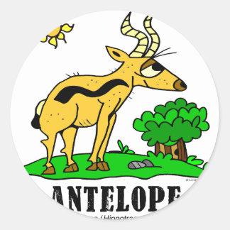 Antelope by Lorenzo Traverso Classic Round Sticker