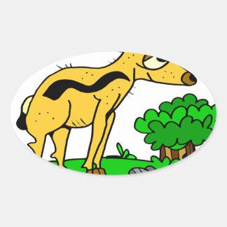 Antelope by Lorenzo Traverso Oval Sticker