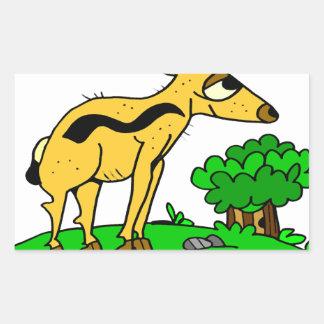 Antelope by Lorenzo Traverso Rectangular Sticker