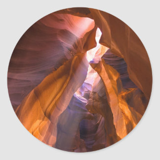 Antelope Canyon 2 Classic Round Sticker