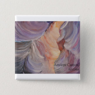 antelope canyon painting in oil 15 cm square badge