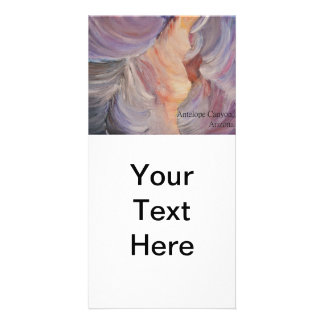 antelope canyon painting in oil card