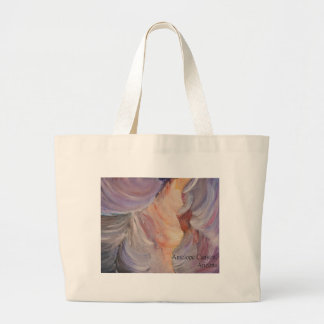 antelope canyon painting in oil large tote bag